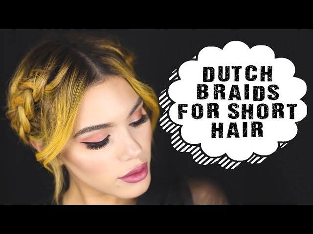 EASY Dutch Braiding 101 For Short Hair | Halo Braid Tutorial