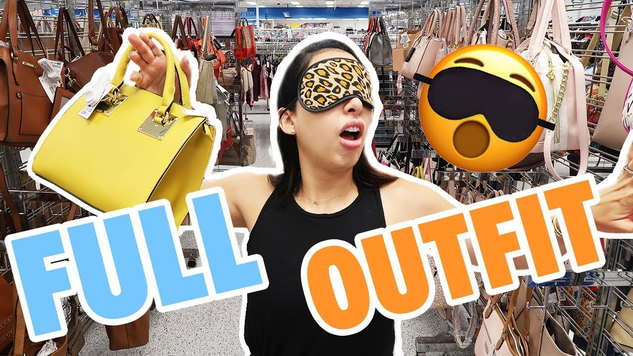 BLINDFOLDED SHOPPING CHALLENGE! I Bought An Entire Outfit Blindfolded 🙈| Mar