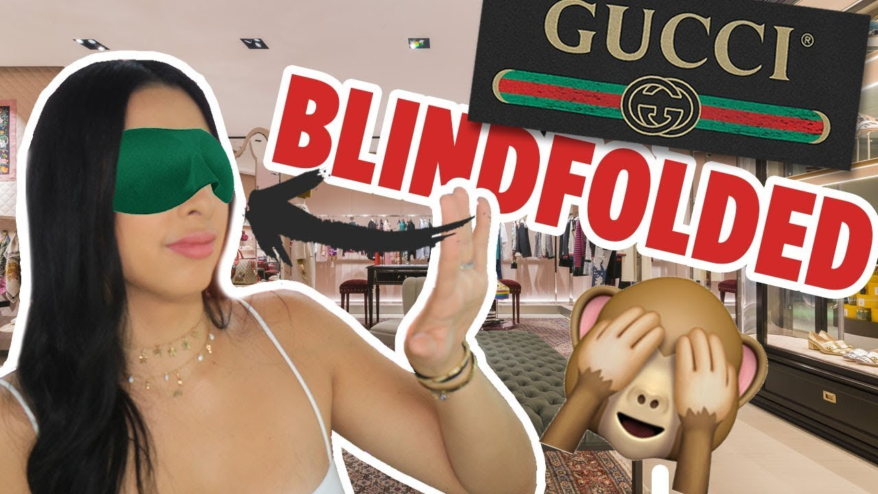 BUYING FROM GUCCI BLINDFOLDED + UNBOXING 🙈| Mar