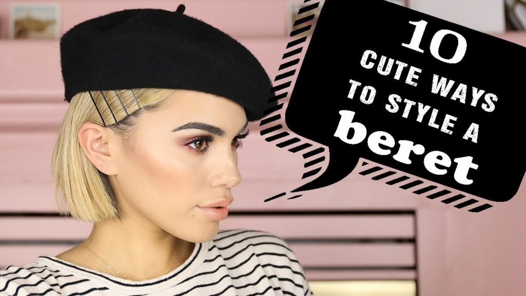 10 CUTE and TRENDY ways to style a BERET for Short Hair | Tutorial