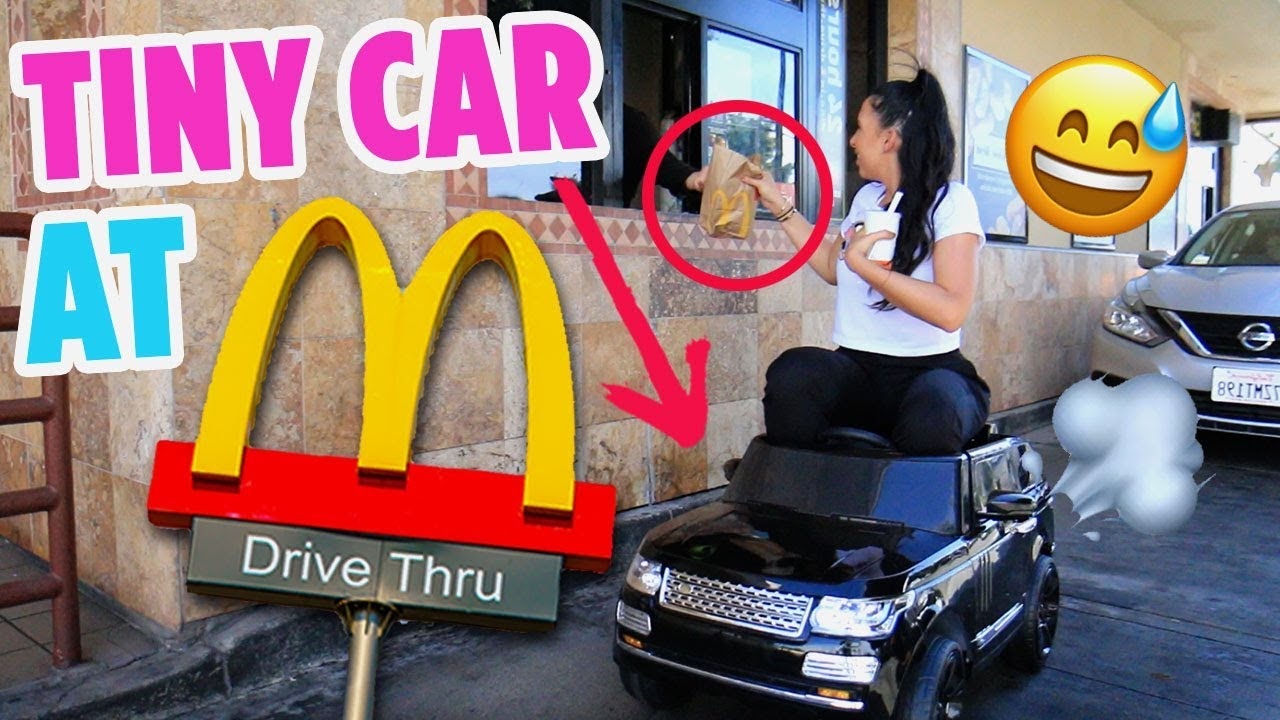 TINY TOY CAR TO MCDONALD'S DRIVE THRU | Mar