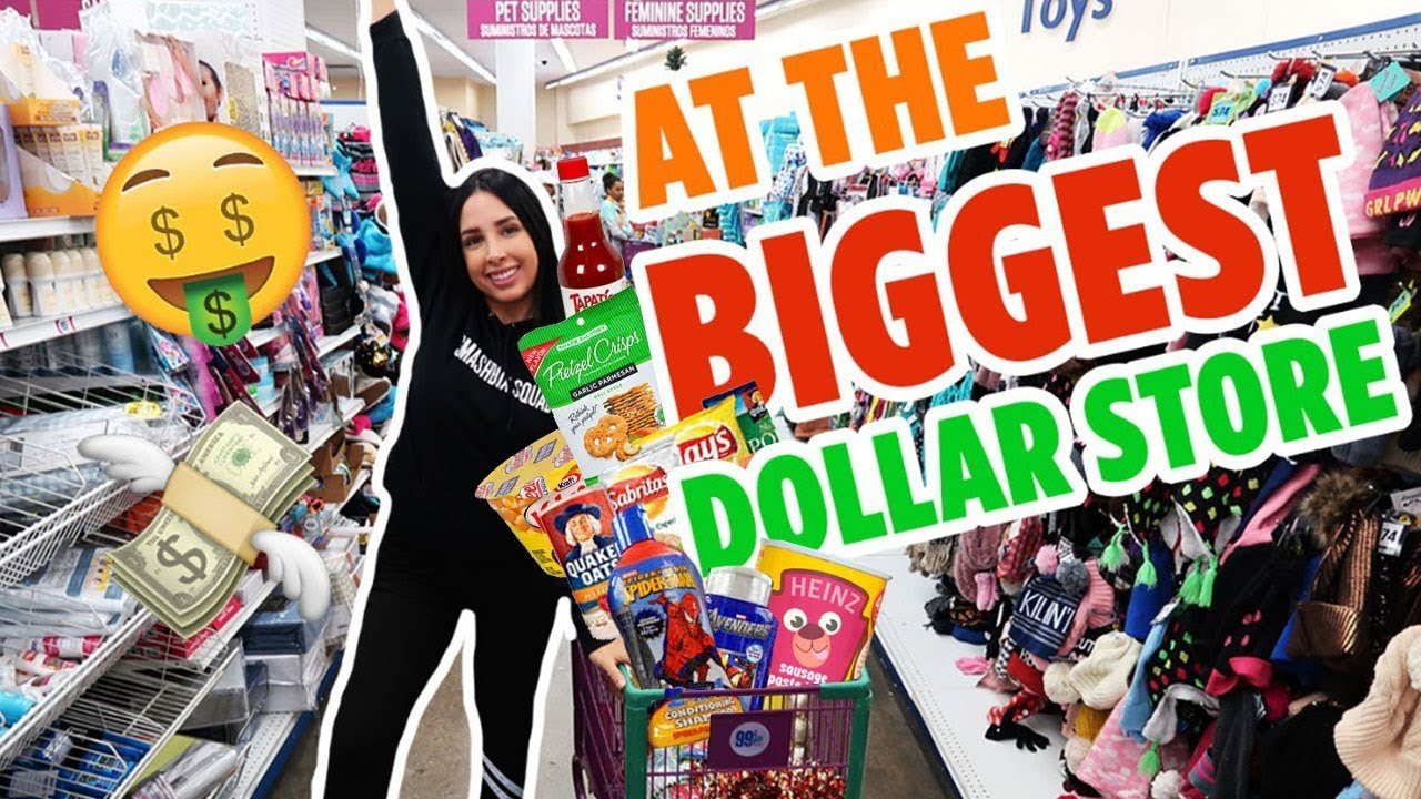 SHOPPING SPREE At The BIGGEST DOLLAR STORE (And Somebody Grabbed My A$$ 😡) | Mar