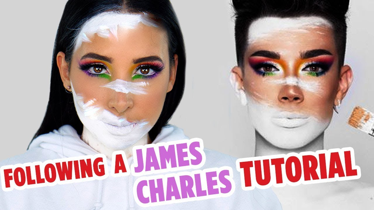 I TRIED FOLLOWING A JAMES CHARLES MAKEUP TUTORIAL (+ GIVEAWAY) | Mar