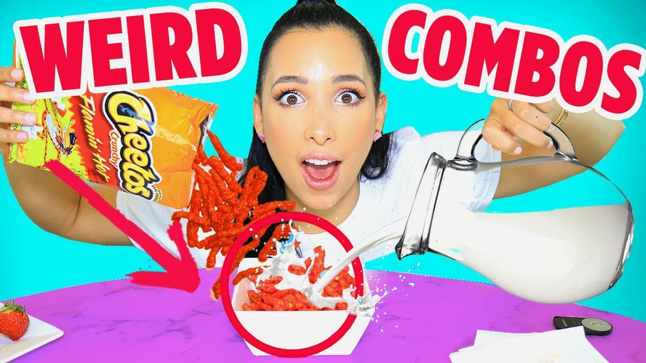 WEIRD Food Combinations People LOVE 🤢 EATING GROSS FOOD CHALLENGE | Mar