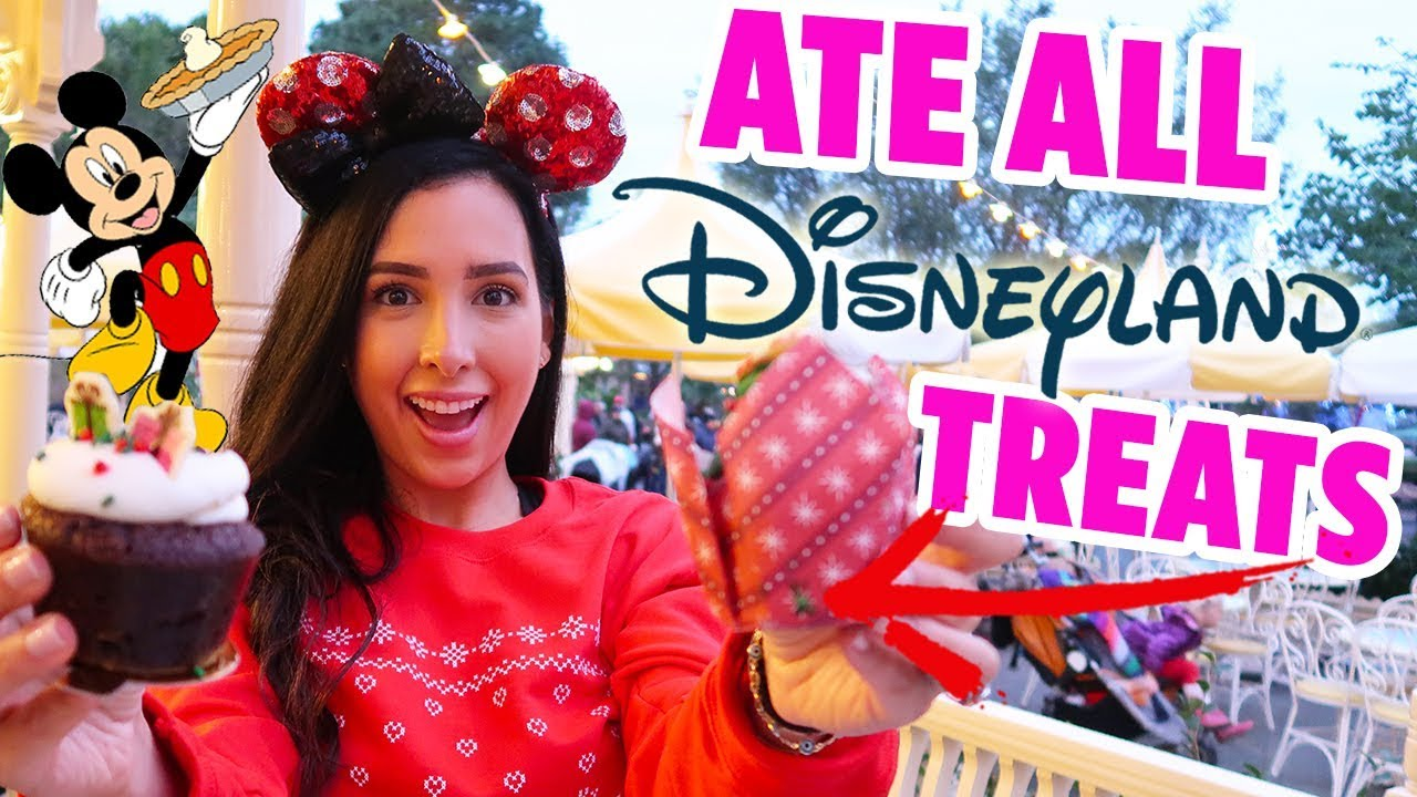 I ATE ALL THE DISNEYLAND CHRISTMAS FOOD 🎄| Mar