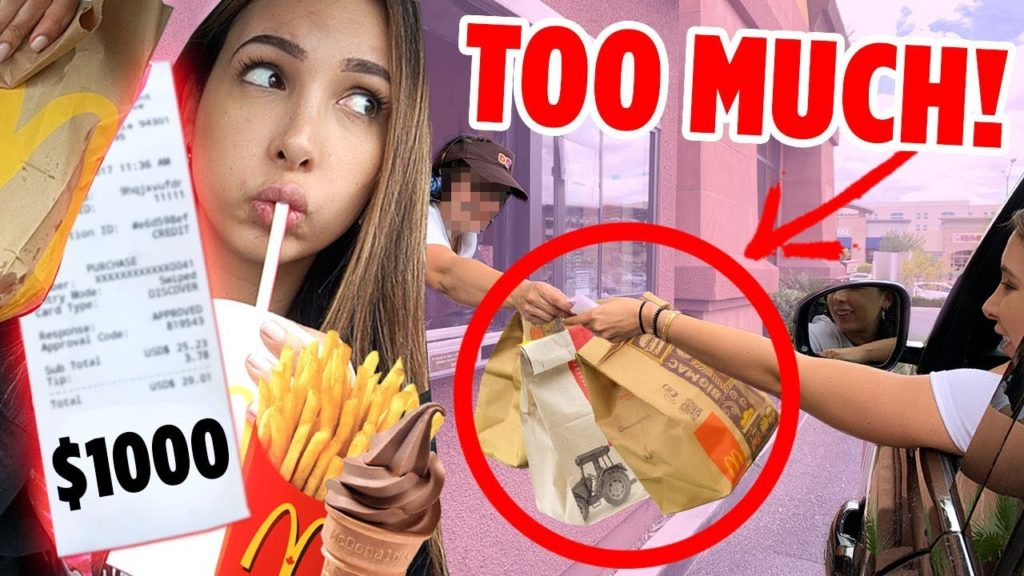 Letting The DRIVE THRU ATTENDANT Decide What I EAT For 24 HOURS | Mar