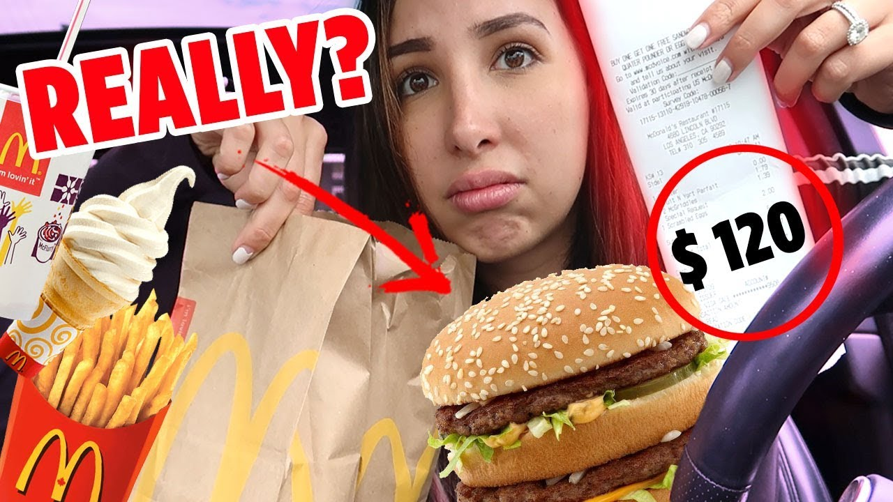 Letting The Person In Front Of Me DECIDE What I BUY And EAT For 24 Hours Challenge | Mar