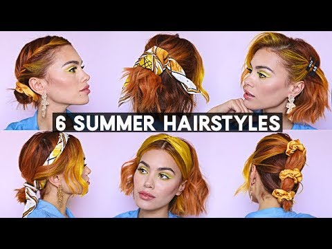 6 SUMMER HAIRSTYLES FOR SHORT HAIR