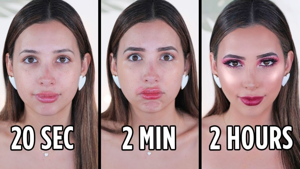 Doing My MAKEUP In 20 SECONDS vs 2 MINUTES vs 2 HOURS | Mar